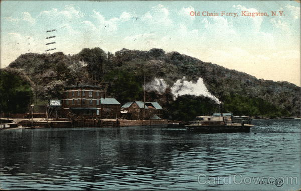 Old Chain Ferry on the Water Kingston New York