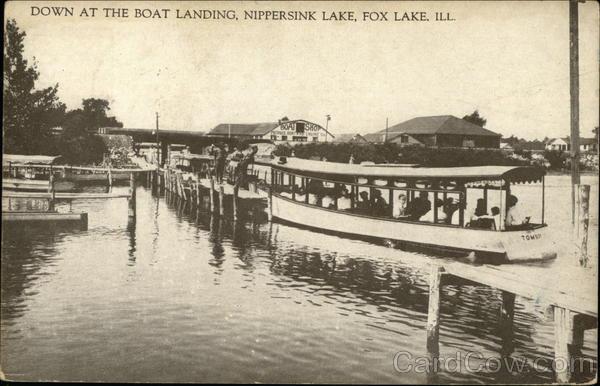 Down at the Boat Landing, Nippersink Lake Fox Lake Illinois
