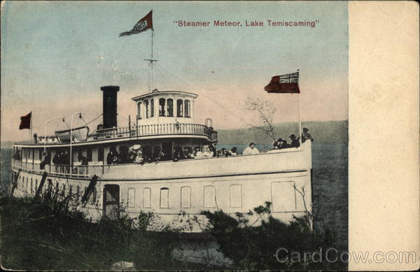 Steamer Meteor Lake Temiscaming Canada Ontario