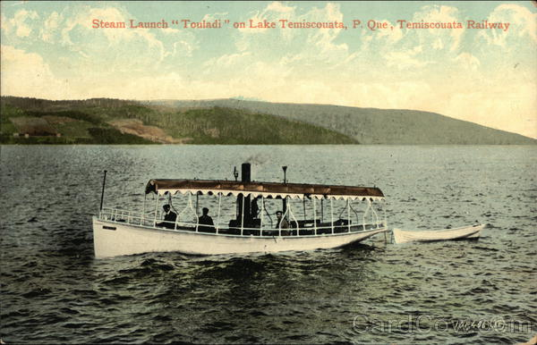 Steam Launch ouladi on Lake Temiscouata Canada Quebec