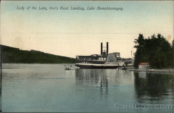 Lady of the Lake, Owl's Head Landing Lake Memphremagog Vermont