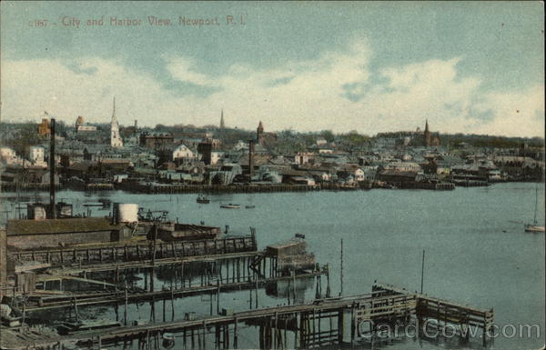 City and Harbor View Newport Rhode Island