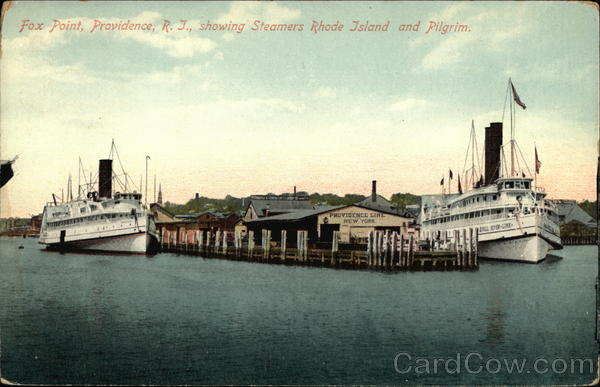 Fox Point, Showing Steamers Rhode Island and Pilgrim Providence