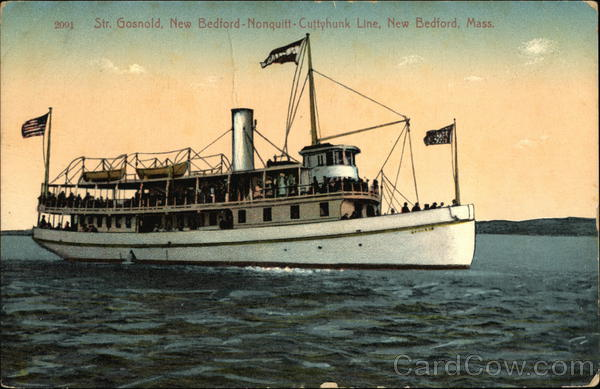 Steamer Gosnold, New Bedford-Nonquitt-Cuttyhunk Line Massachusetts