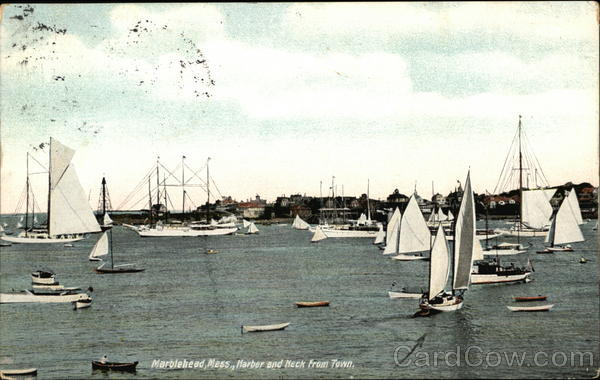 Harbor and Neck View from Town Marblehead Massachusetts
