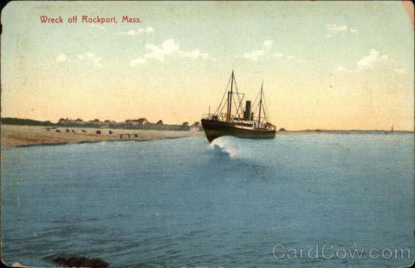 Wreck off Rockport Massachusetts Boats, Ships