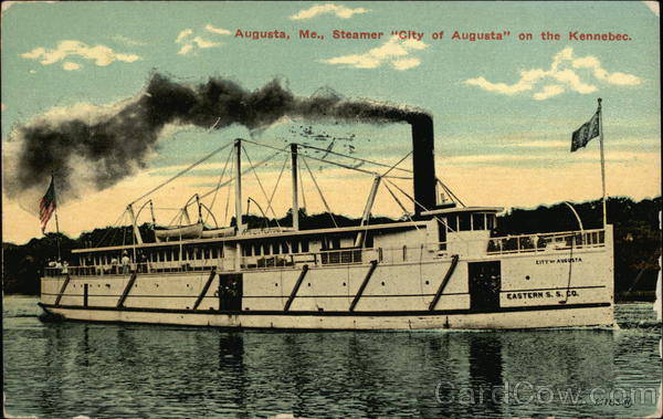 Steamer City of Augusta on the Kennebec Maine