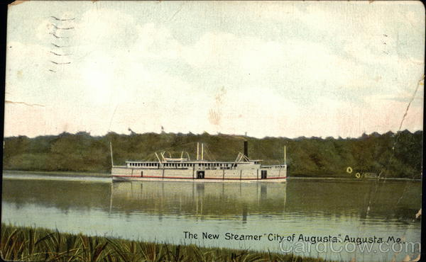 The New Steamer City of Augusta Maine