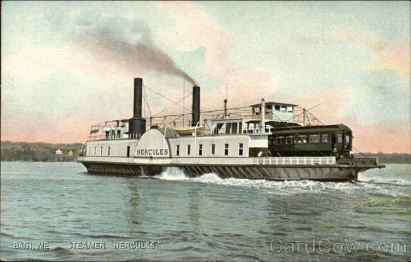 Steamer Hercules on the Water Bath Maine