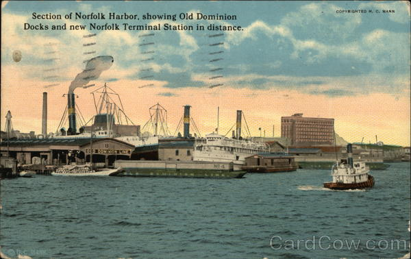 Section of Norfolk Harbor Virginia