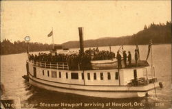 Yaquina Bay - Steamer Newport Arriving
