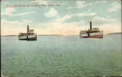 Steamers Morse and Sappho Postcard