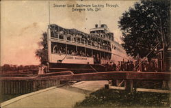 Steamer Lord Baltimore Locking Through