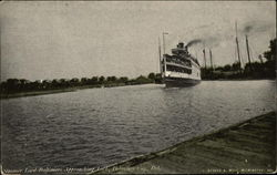 Steamer Lord Baltimore Approaching Lock