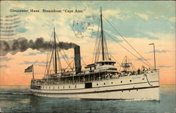 "Steamboat ""Cape Ann"" on the Water"