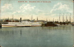 Steamer City of Rockland Postcard