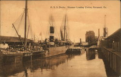OSS Docks, Steamer Loading Cotton