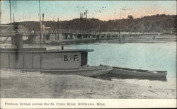 Pontoon Bridge across the St Croix River