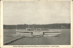 Steamer Mistassini, Connecting Hotel Roberval with Island House