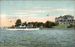 "Emery Cottage and ""Romona"" on the Water"