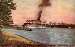 Steamer J.S. Passing Through Government Bridge
