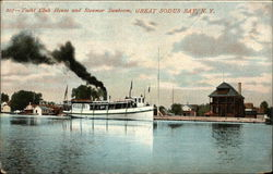 Yacht Club House and Steamer Sunbeam