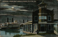 Cleveland & Toledo, Boat Landing by Moonlight