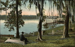 Glimpse of the St. Johns River Showing Government Steamer Fish Hawk