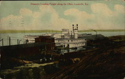 Steamers Loading Freight Along the Ohio