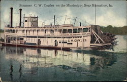 Steamer CW Cowles on the Mississippi River