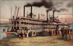 Steamer J.S., Steamer, W.W. and Barge