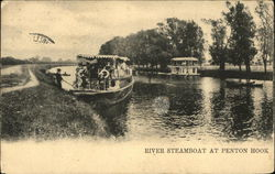 River Steamboat at Penton Hook Postcard