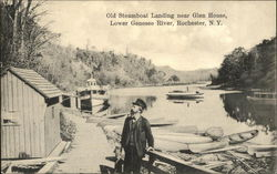 Old Steamboat Landing near Glen House, Lower Genesee River Postcard