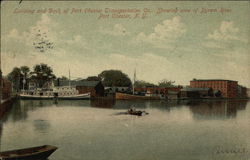 Landing and Dock of Port Chester Transportation Co.
