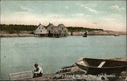Water View of The Three Fish Houses
