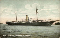 Columbia at Anchor