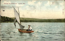 Boating on Thunder Bay Postcard