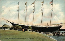 Launching of the Helen J. Seitz Postcard