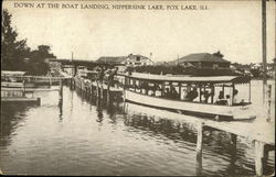 Down at the Boat Landing, Nippersink Lake Postcard
