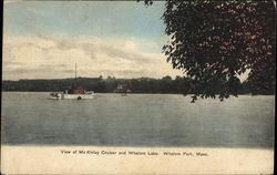 View of McKinley Cruiser and Whalom Lake Postcard