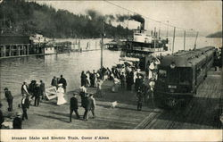 Steamer Idaho and Electric Train