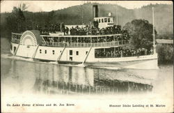 Steamer Idaho Landing at St. Maries