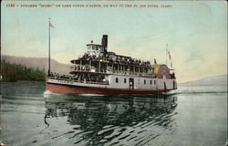 "Steamer ""Idaho"" on Lake Coeur D'Alene"