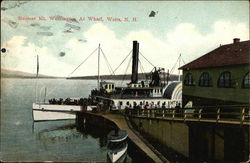 Steamer Mt Washington At Wharf Postcard