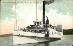 Steamer National Washington Arriving Postcard
