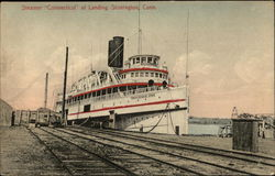 "Steamer ""Connecticut"" at Landing"