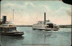 Ferry Boat Transport leaving Rondout Postcard