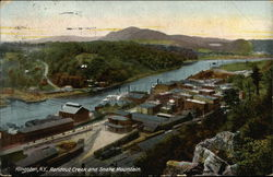 Bird's Eye View of Rondout Creek and Snake Mountain