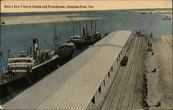 Bird's Eye View of Docks and Warehouse