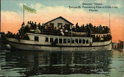 "Steamer ""Gypsy"", Tampa-St. Petersburg-Pass a Grille Line"